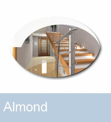Wardrobe mirrors Almond