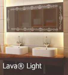 Infrared heating panel- Lava mirror Light