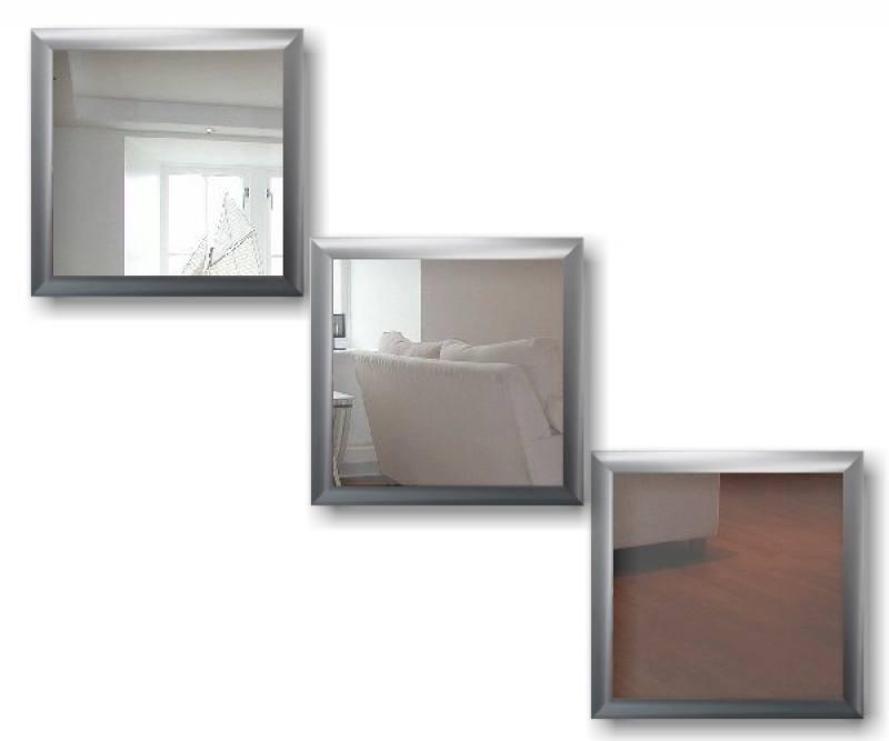 Moderne halspiegel moderna deco set 40x40cm design spiegel met - Moderne spiegels ...