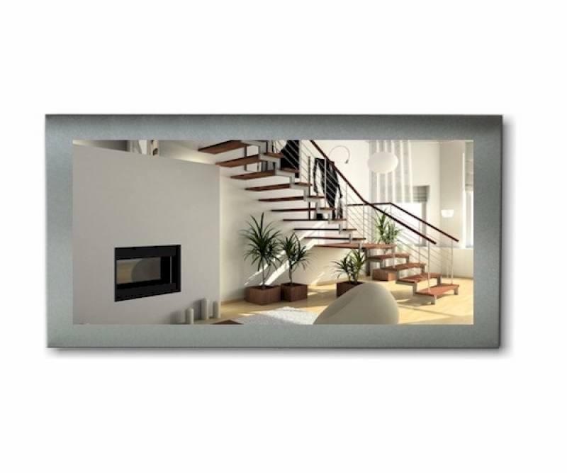 Roestvrij stalen spiegel 100x200cm rvs design spiegel - Spiegel 200 x 100 ...