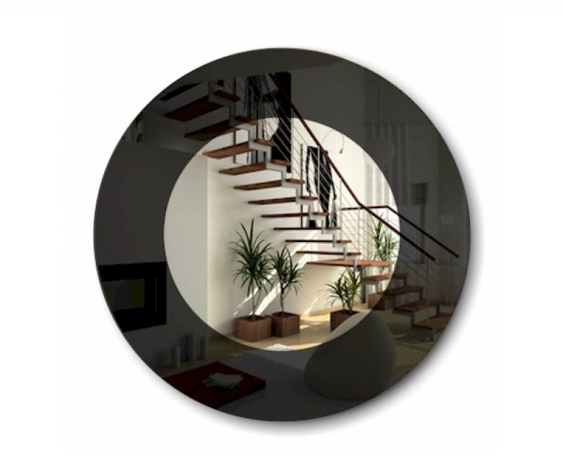 Lack Spiegel Rond 90cm Gekleurde Design Spiegel