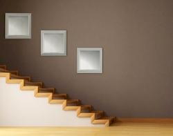 Moderne spiegel set moderna design spiegels in aluminium lijst - Hal deco ...